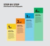 Escalera Infographic de 4 pasos ilustración del vector