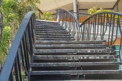 Escalera inoxidable Imagen de archivo