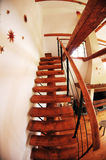 Escalera interior casera Foto de archivo
