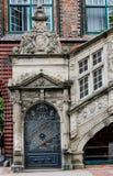 Escalera Lübeck Rathaus del renacimiento Foto de archivo