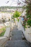 Escalera a la ciudad Imagen de archivo