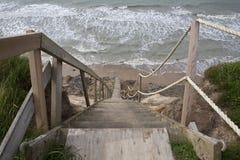 Escalera a la playa Fotos de archivo libres de regalías