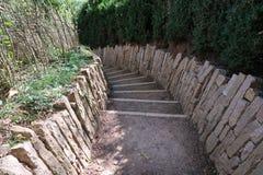 Escalera a la roca de Solutré Fotografía de archivo