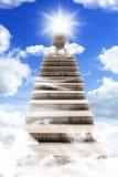 Escalera larga al cielo Imágenes de archivo libres de regalías