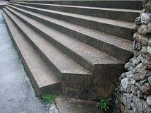 Escalera larga del cemento fotografía de archivo