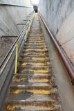 Escalera larga en Diamond Head imagen de archivo