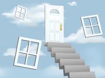 Escalera a las nubes Imagen de archivo