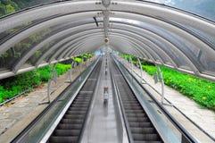 Escalera móvil al aire libre Foto de archivo libre de regalías