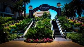 Escalera móvil al aire libre en Las Vegas fotografía de archivo