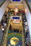 Escalera móvil apretada en las Navidades Imagenes de archivo