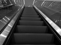 Escalera móvil B&W Foto de archivo libre de regalías