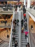 Escalera móvil de la alameda de compras Fotografía de archivo