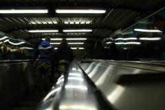 Escalera móvil del subterráneo Imagen de archivo libre de regalías