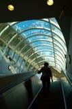 Escalera móvil del subterráneo Imagenes de archivo