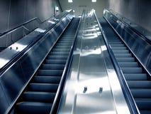 Escalera móvil del subterráneo de Montreal foto de archivo