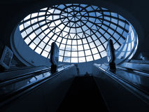 Escalera móvil en el subterráneo Imagen de archivo libre de regalías