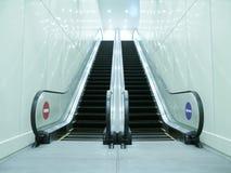 Escalera móvil en paso subterráneo Imágenes de archivo libres de regalías
