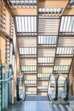 Escalera móvil - escalera automática para hacia arriba y hacia abajo incorporar Fotos de archivo