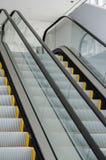 Escalera móvil peatonal del transporte Imagen de archivo libre de regalías