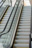 Escalera móvil peatonal del transporte Foto de archivo libre de regalías