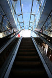 Escalera móvil vacía Imagen de archivo libre de regalías
