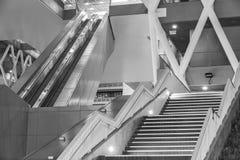 Escalera móvil y escalera Imagen de archivo libre de regalías