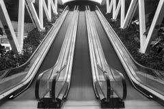 Escalera móvil y escalera Foto de archivo