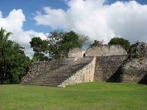 Escalera maya del ruins_Kohunlich Fotografía de archivo