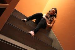 Escalera melancólica Fotos de archivo libres de regalías