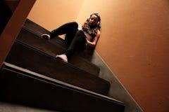 Escalera melancólica Imagen de archivo libre de regalías