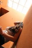 Escalera melancólica Foto de archivo libre de regalías