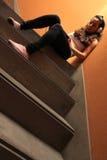 Escalera melancólica Fotografía de archivo libre de regalías