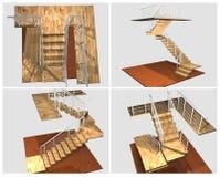 escalera modelo 3d Foto de archivo libre de regalías