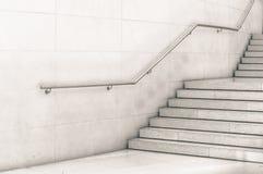 Escalera moderna en blanco y negro Imagen de archivo libre de regalías