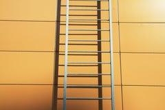 Escalera moderna en color de oro Imágenes de archivo libres de regalías