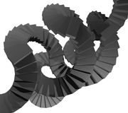 Escalera negra Foto de archivo libre de regalías