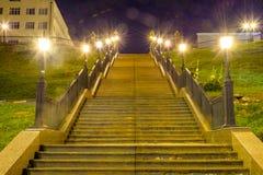Escalera para arriba por la tarde Fotografía de archivo libre de regalías