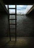 Escalera para fuera del cuarto Imagenes de archivo