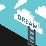 Escalera para soñar concepto libre illustration