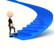 Escalera profesional del portador sobre blanco stock de ilustración