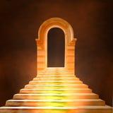 Escalera que lleva al cielo o al infierno Fotografía de archivo libre de regalías