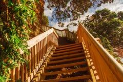 Escalera que lleva al top Imagenes de archivo