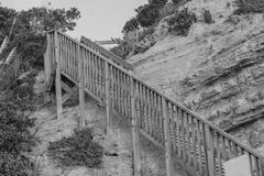 Escalera que lleva al top Foto de archivo libre de regalías
