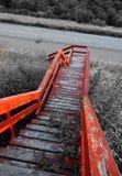 Escalera rústica foto de archivo