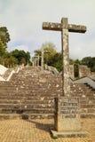 Escalera religiosa antigua Imagen de archivo libre de regalías