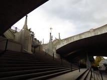 Escalera subterráneo fotografía de archivo