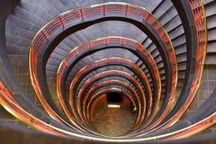 Escalera tred y gris hosca Fotografía de archivo