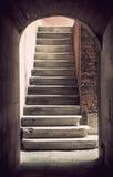 Escalera antigua Foto de archivo libre de regalías