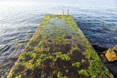 Escalera vieja al mar Imagen de archivo libre de regalías