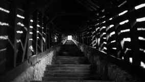 Escalera vieja de la iglesia fotografía de archivo libre de regalías